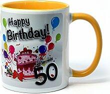 Geburtstagstasse - Happy Birthday - Ich bin nicht 50... - Lustiger Kaffeebecher, eine tolle Geschenkidee zum Geburtstag.