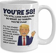Geburtstagstasse zum 58. Geburtstag, Geschenkidee