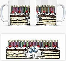 Geburtstagstorten Kaffeebecher zum 66. Geburtstag - 66 Jahre Tasse Torte Kuchen 66 Kerzen Geschenkidee Geburtstagstasse Schwarzwälder Kirschtorte mug
