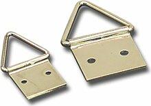 gebuvolco 790.17027.202017x 27mm Triangle Bild Kleiderbügel–Eisen Messing vergoldet (100)