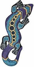 Gecko 50cm Dekoration aus Holz im Afrika Style Maske Motivmaske Leguan Echse Wandmaske