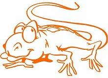 Gecko Aufkleber 001, 30 cm, orange