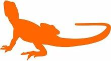 Gecko Aufkleber 002, 50 cm, orange