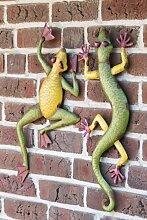 Gecko Garten Wand Deko 2 Stück