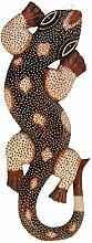 Gecko zum Aufhängen 100cm Afrika Dekoration Holzmaske Motivmaske Echse