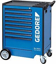 GEDORE 2004 0701 Werkzeugwagen mit 8 Schubladen, 8