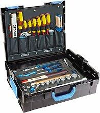 GEDORE L-BOXX 136 - 58 teilig / Großes Hand- bzw. Heimwerker Werkzeugset mit Check-Tool-Einlage / VDE Werkzeugset / Profi Werkzeuge für jede Gelegenhei
