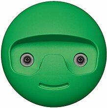 GedoTec® Design Wand-Garderobe Garderobenhaken kinder - Modell SMILE | Mantelhaken Kunststoff grün | Kleiderhaken Ø 119 mm | Moderner Kinderzimmer Haken sichtbar verschraubt | Markenqualität für Ihren Wohnbereich