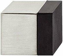 GedoTec® Design Wand-Türpuffer EDELSTAHL Anschlagpuffer STRONG eckig | Tiefe: 30 mm | 9 mm Gummi-Puffer für Wand & Boden-Montage | inkl. Befestigungsmaterial | Markenqualität für Ihren Wohnbereich