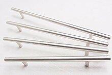 GedoTec® Edelstahl Möbelgriff BA 192 mm rund Türgriff gebürstet ENJOY | Stangengriff Länge 264 mm | Profil Ø 10 mm | Höhe 30 mm | Markenqualität für Ihren Wohnbereich