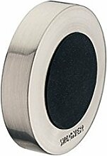 GedoTec® EDELSTAHL Wand-Türpuffer Türstopper GLOBUS Gummi-Puffer für Wand-Montage | Tiefe: 10 mm | 2 mm Gummiauflage | Puffer zum Kleben & inkl. Befestigungsmaterial | Markenqualität für Ihren Wohnbereich