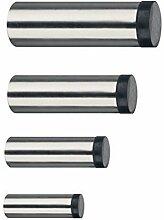 GedoTec® EDELSTAHL Wand-Türpuffer Türstopper TRENDY Gummi-Puffer für Wand-Montage | Tiefe: 90 mm | 8 mm Gummiauflage | Puffer inkl. Befestigungsmaterial | Markenqualität für Ihren Wohnbereich