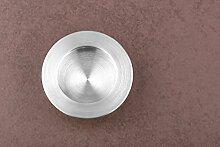 GedoTec® Einlass-Muschelgriff Edelstahl Möbelgriff rund Modell LADY rostfrei | Griffschale Ø 40 mm | Schiebe-Türgriff Edelstahl matt gebürstet | Markenqualität für Ihren Wohnbereich