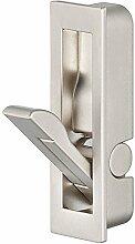 GedoTec® Klappgriff Möbelgriff vernickelt matt - Modell K-085 | einsetzbar als Klapphaken & Kleiderhaken klappbar | Griff / Haken zum Einlassen für Möbel | Markenqualität für Ihren Wohnbereich (Stahl vernickelt)