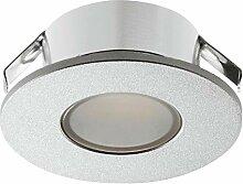 Gedotec LED Möbel-Einbauleuchte silber eloxiert