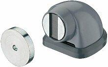 GedoTec® Torstopper grau Türstopper magnetisch Türfeststeller für Bodenmontage | Torfeststeller für ein Türgewicht bis 20 kg | Boden-Stopper mit Magnet | Markenqualität für Ihren Wohnbereich
