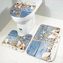 Gedruckt Holzmatte Toilette Bodenmatte