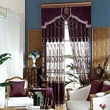 Gedruckt im europäischen Stil voller blackout Wohnzimmer Schlafzimmer Fenster Vorhänge , Gardinen,2*56W84L