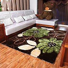 Gedruckt Teppich Modern European Wohnzimmer Teppich Sofa Schlafzimmer Teppich weich und bequem 140 * 200CM drei Arten von Seide Materialmisch- ( farbe : A01 )