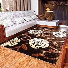 Gedruckt Teppich Modern European Wohnzimmer Teppich Sofa Schlafzimmer Teppich weich und bequem 140 * 200CM drei Arten von Seide Materialmisch- ( farbe : C03 )