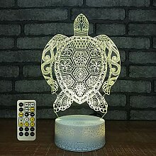 Gedruckte Schildkröte 3D optische Illusion