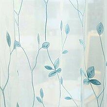 Gedruckter Voile-Vorhang, weiße Gardinen mit