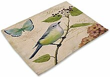 Gedrucktes Tischset Aus Baumwolle,4 Piece Set