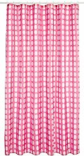 Gedy Duschvorhang aus Polyester Sterne,Rosa, 180 x