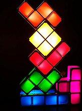 GEEDIAHY Tetris Lampe, stapelbare LED Tischlampe