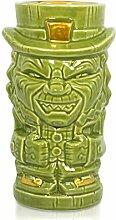 Geeki Tikis Tiki-Tasse mit Leprechaun-Figur,