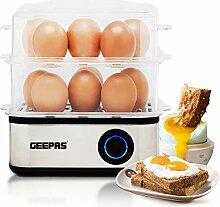 Geepas 500 W Premium elektrischer Eierkocher für