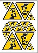 Gefahr Achtung Kopf A4 Sticker Aufkleber