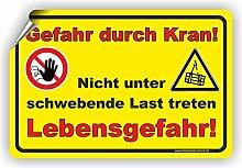 Gefahr duch Kran - Nicht unter schwebende Last