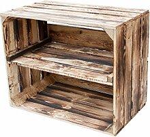 Geflammte Kiste für Schuhregal und Bücherregal -