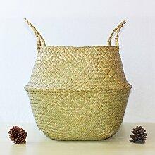 Geflochtener Korb aus natürlichem Seegras, für