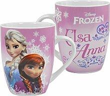 Gefrorene Elsa & Anna Rosa Barrel Tasse