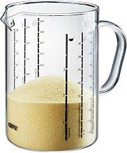 GEFU Messbecher METI, 1000 ml, Glas, Ausgießnase,