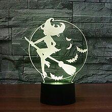 Geführte kreative Tischlampe, 3D Nachtlicht,