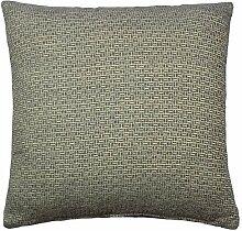 "gefüllt grau creme modern Mosaik luxuriös dickes cheniile Kissen 17 "" - 43cm"