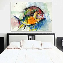 GEGEBIANHAOKAN Kunst Bild Druck Aquarell Fisch