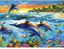 GEGEMEI Mosaik Vollen Bohrmaschine 5D DIY Delfin