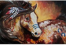 GEGEMEI Mosaik Vollen Bohrmaschine 5D DIY Pferd