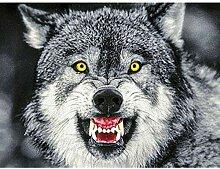 GEGEMEI Mosaik Vollen Bohrmaschine 5D DIY Wolf