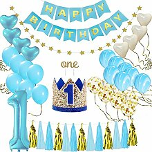 Geggur 1 Jahr Geburtstagsdeko Dekoration Set Happy