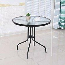 Gehärtetes Glas runden Tisch und Stuhl