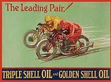 Gehäuse Öl Motorrad Vintage Racing Alt Garage Metall/Stahl Wandschild - 30 x 20 cm