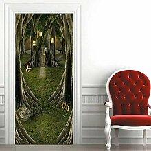 Geheimnisvolle Baum Haus 3D Tür Aufkleber