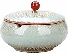 Gehoben Aschenbecher Rund Form Keramik