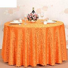 gehobenen Hotel Jacquard Tischdecke/Großen Tisch Tuch Restaurant Tischdecken/Tischdecken-C Durchmesser220cm(87inch)