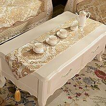 Gehobenen Sie,Luxus-tischläufer/Europäisch,Retro Bett/Tee Tischläufer-B 35x200cm(14x79inch)